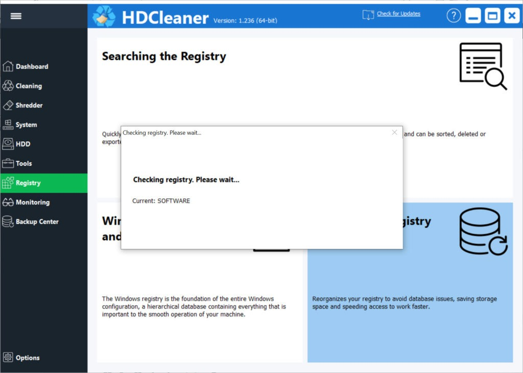Screenshot HDCleaner Terbaru