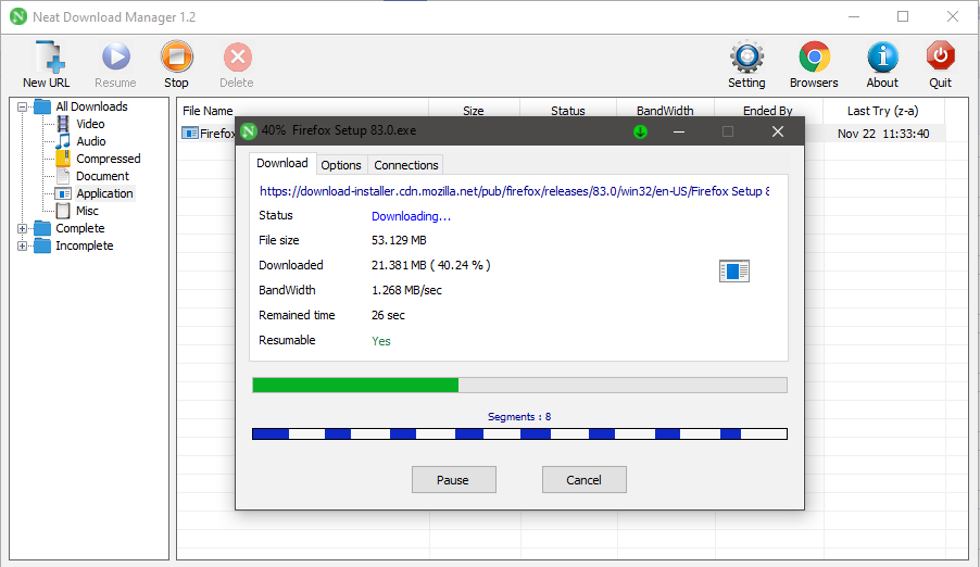 Screenshot Neat Download Manager Terbaru